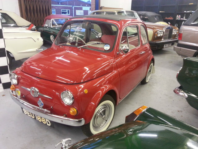 FIAT 500 SALOON STUNNING!! ROUND SPEEDO MODEL WHITE WALLS TAX EXEMPT 1966
