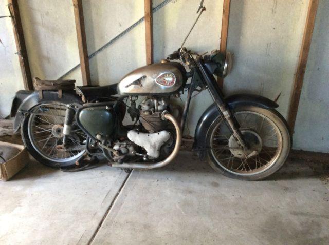 BSA  motorbike. BSA golden flash  A 10, 1962 needs total restoration