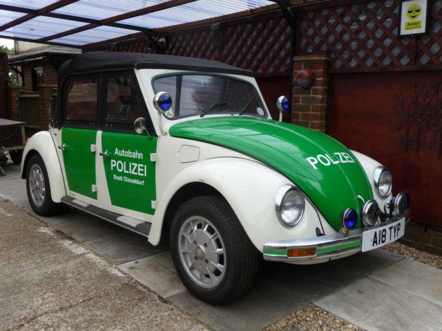 Classic VW Beetle Coachbuilt [ 4-Door ] Cabriolet + LHD + Polizei + Police.