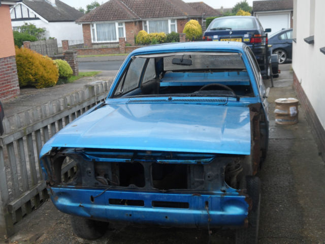 ford escort 1.3GL rolling chassis for restoration