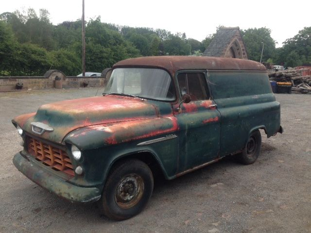 1955 Chevrolet Panel Van, Great Patina, Runs & Drives