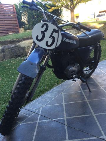kawasaki ke175 vintage enduro 2 stroke motorcycle 1976