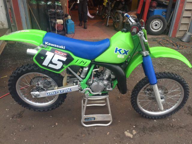 kawasaki kx125 1988 kx 125 88 evo for sale worcester, united