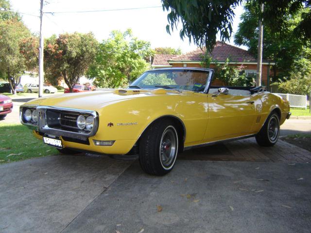 1968 Pontiac Firebird Convertible 350 V8 Auto Muscle Car not Camaro