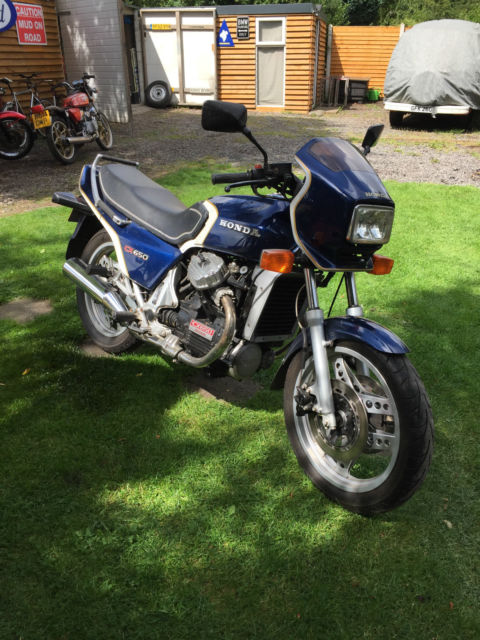 1982 HONDA CX 650 Euro Sport  BLUE Spares Repair ,Barn find, Project Delivery px