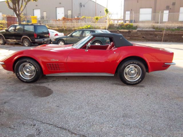 1971 chevrolet corvette 4speed roadster