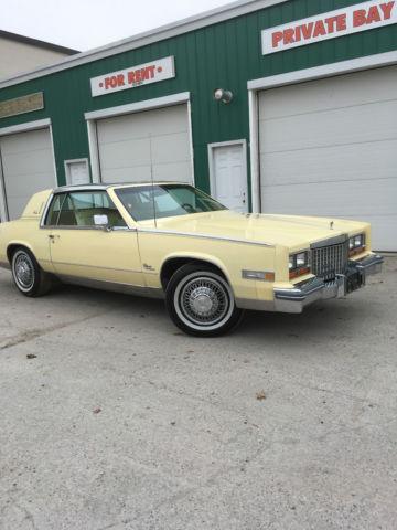 1980 Cadilac Eldorado Yellow on Yellow Stainless steel low miles