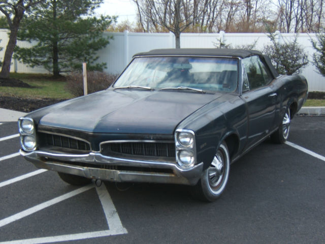 1967 Pontiac LeMans  CONVERTIBLE RUNNING DRIVING PROJECT CAR READ INFO NO RESERV