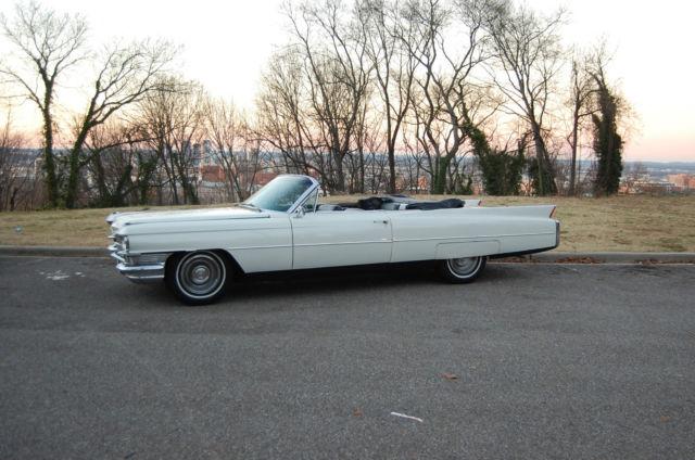 Beautiful! White Cadillac, Black Top, Convertible! $40K in restoration.