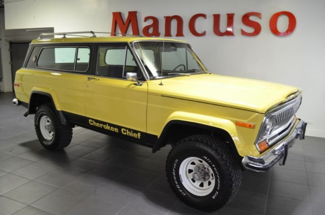1978 Jeep Cherokee Chief  38747 Miles Yellow   Automatic