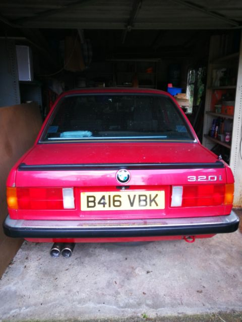 1984 Red BMW 3 Series Only 32862 miles.  E30 6 cylinder 320i manual Petrol