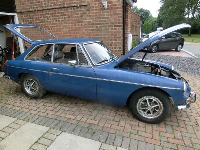 **1974 MGB GT Blue Chrome Bumper for Restoration or Spares**