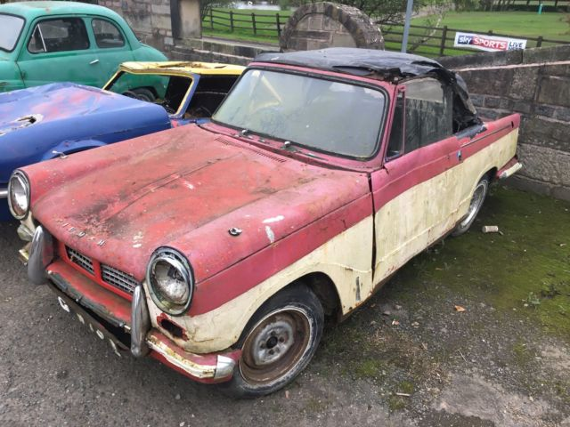 Triumph Herald Convertible Barn Find Classic Car Project Spares Garden Art