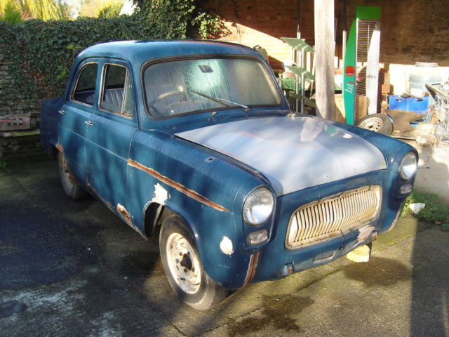 1958 FORD PREFECT BLUE classic barn find