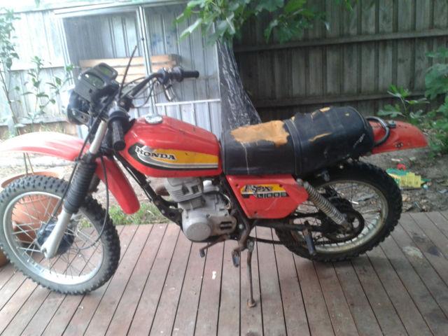 honda xl100s 1979 barn find full road reg cafe racer bobber tracker NO RESERVE