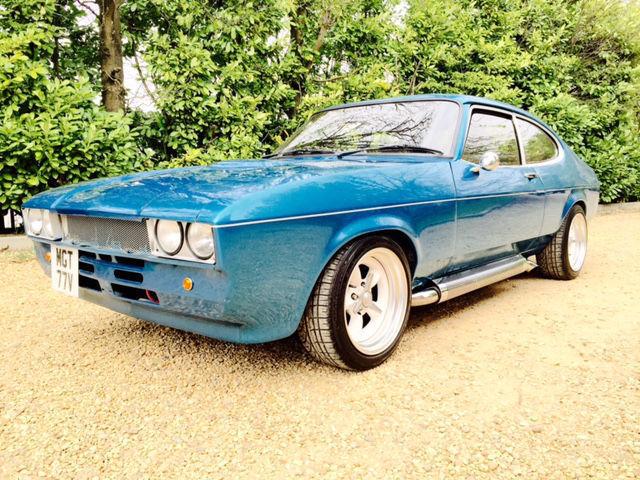 1979 mk 2 Ford Capri 5.7 v8 Chevy Edelbrock Blue One Off Blue American