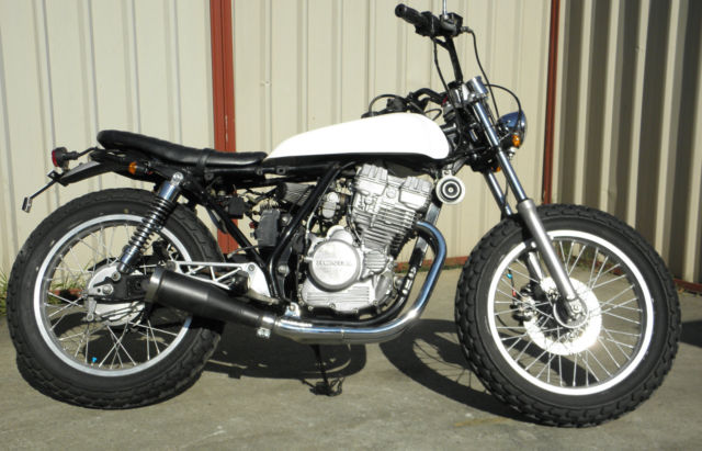 Honda GB250 1987 model, flat tracker style, lots of mods, great fun to ride !