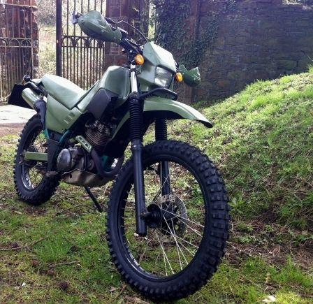 YAMAHA XT 225 SEROW ARMY SPECIAL Green Laner