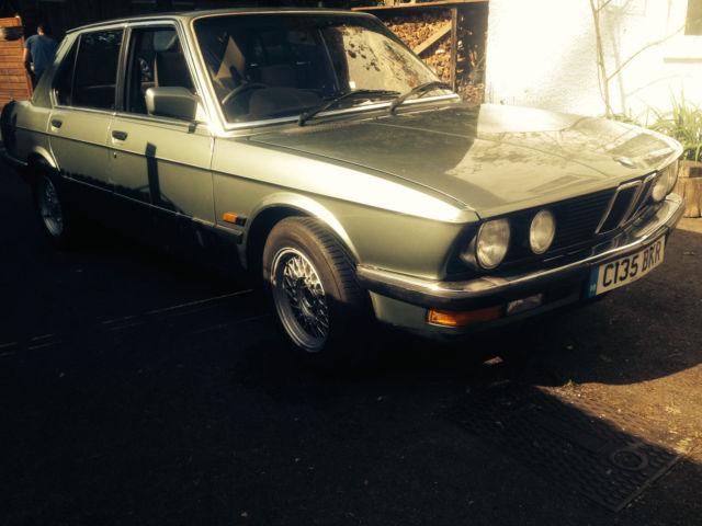 1985 BMW 520I AUTO GREEN