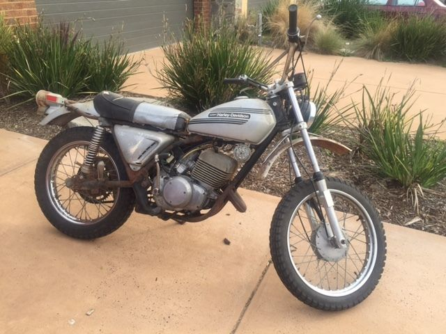 Harley Davidson Collectors!  AMF SX250 TRAIL BIKE