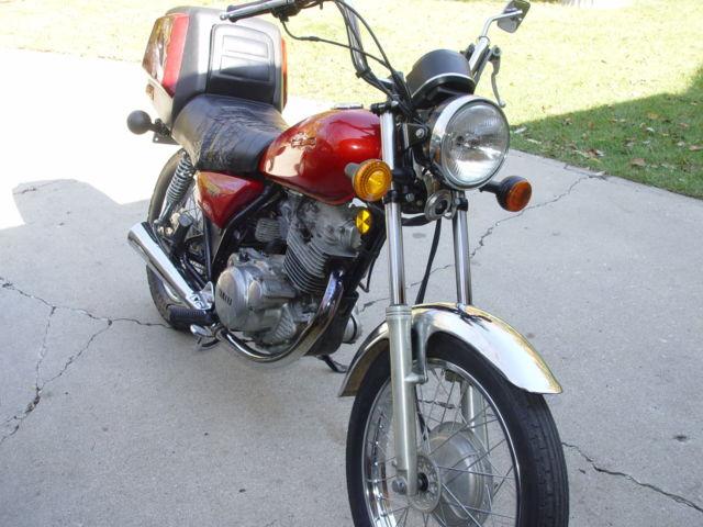 1981 Yamaha SR250,Motorcycle Retro rare locking trunk option