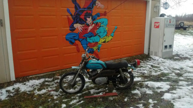 1975 Kawasaki KD80-A2 Been Inside Storage For 10 Years Motor Kicks Over No Title