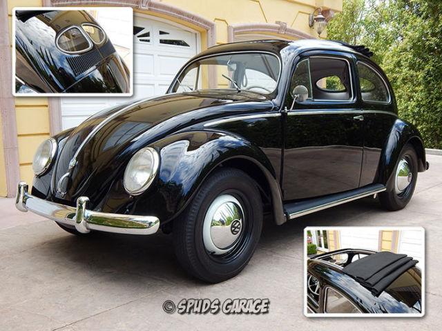 1953 VW Zwitter Split Window Rag Top Zertifikat Verified 3-5-1953 11-G Stiftung