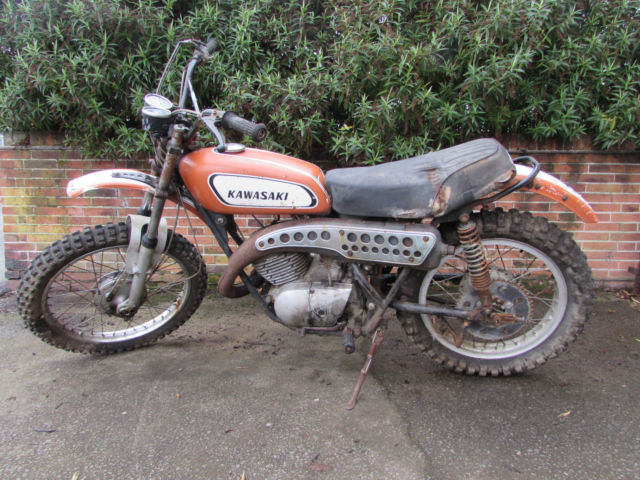 1970 KAWASAKI F5 BIG HORN 350 PROJECT BIKE CLASSIC VINTAGE TWINSHOCK MX ENDURO