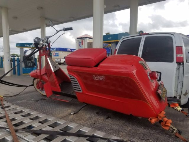 1956 Red Cushman Allstate Scooter  ***VERY RARE MODEL***