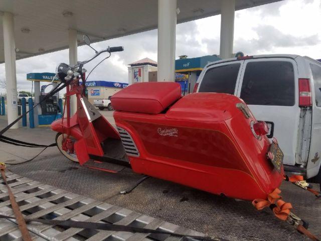 1956 Red Cushman Maverick Scooter  ***VERY RARE MODEL***