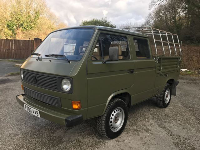 VW TRANSPORTER DOUBLE CAB 4X4 SYNCRO EX AMERICAN MILITARY TYPE 2 T3 T25