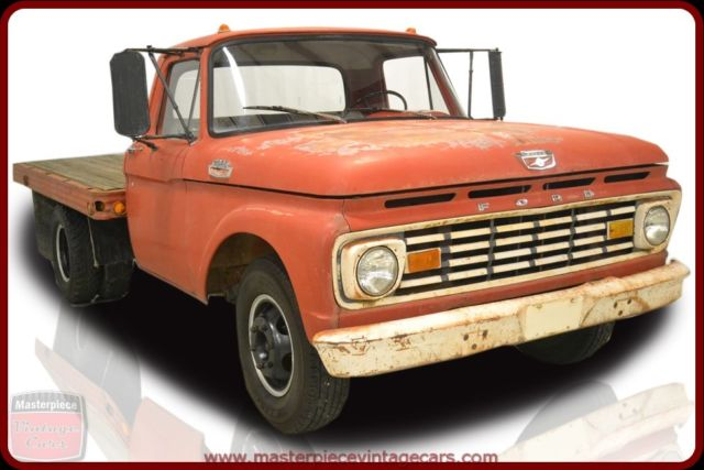 1963 Ford 350 Standard Cab Flatbed Truck 79553 Miles Rangoon Red  352ci V8 4-Spe
