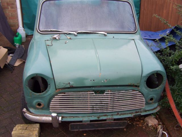 1964 AUSTIN / MORRIS MINI COOPER 998 MK1 BODY SHELL FOR RESTORATION.