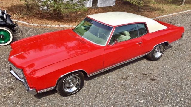 1970 Chevrolet Monte Carlo Cherry Red With White Vinyl Roof For Sale Dover United Kingdom Automotoclassicsale Com