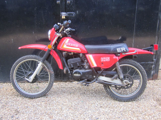 Suzuki TS185 ER 1979 long time stored low mile low owner runnig project bike