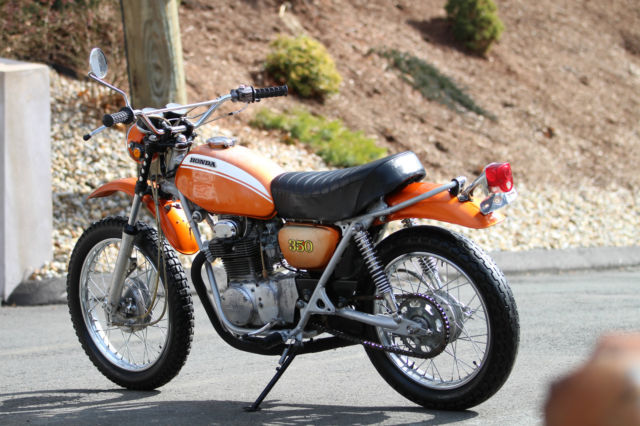 1971 Honda SL350K1 Candy Topaz Orange, Absolute BLAST to ride RUNS AMAZING, MINT