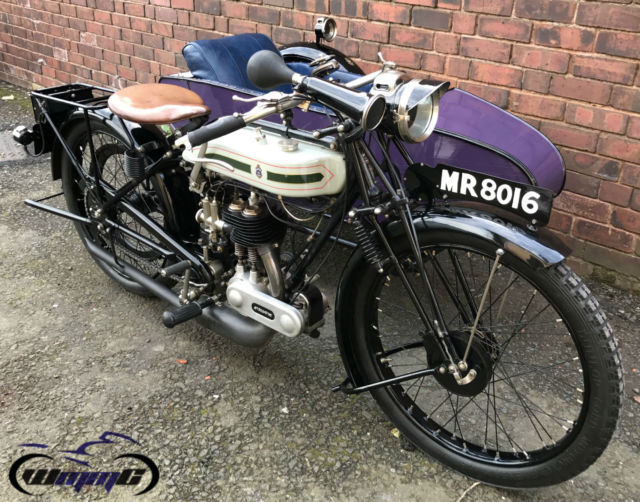1926 TRIUMPH MODEL P 500cc SIDE CAR COMBINATION * VINTAGE BRITISH CLASSIC *