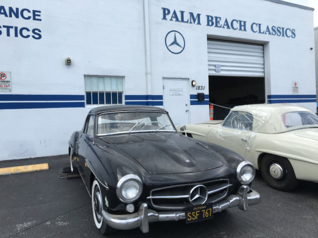 1961 Mercedes 190SL Barn Find DB040 Black Matching Numbers