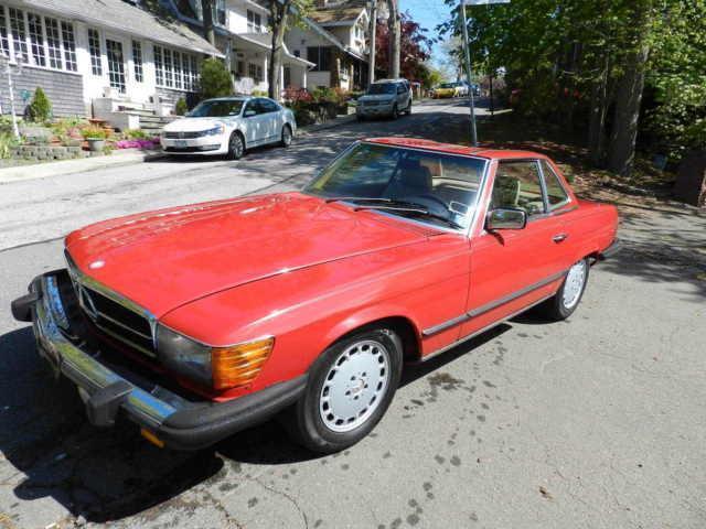 1984 Mercedes-Benz 380 Series 380SL 73500 Miles RED CONV 8 Cylinder Engine 3.8L/