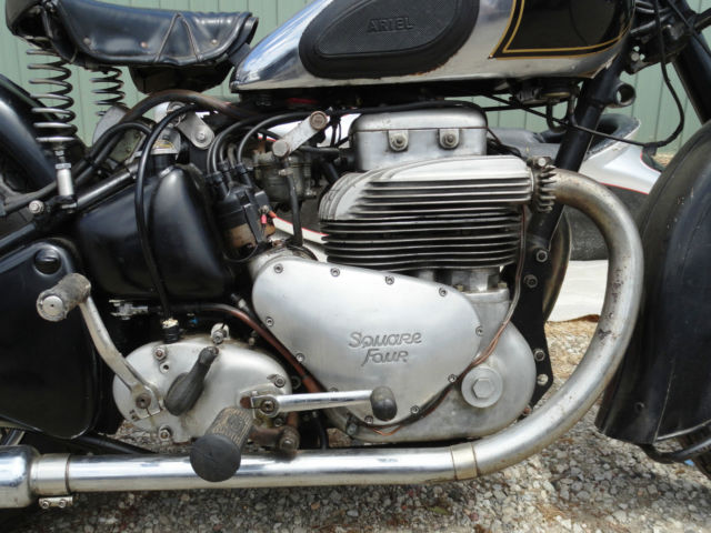 Classic 1952 Mk 1 Ariel Square Four Motorcycle with ...