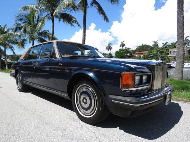 1988 Rolls-Royce Silver Spur  56906 Miles Royal Blue Sedan 6.75 LITER V8 Automat