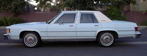 1982 Ford Mercury Grand Marquis 4-Door Sedan...This car is perfect for Weddings